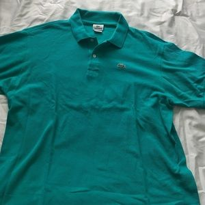 Teal men's Lacoste polo